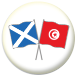 Scotland St Andrew and Tunisia Friendship Flag 25mm Pin Button Badge